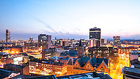 Manchester, Greater Manchester, UK at night