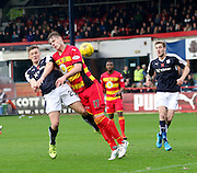Dundee&rsquo;s Rhys Healy and Partick Thistle&rsquo;s Liam Lindsay - Dundee v Partick Thistle, Ladbrokes Premiership at Dens Park<br /> <br />  - &copy; David Young - www.davidyoungphoto.co.uk - email: davidyoungphoto@gmail.com