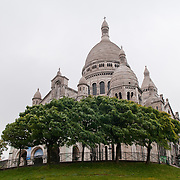 Sacre Coeur Cathedral in Montmartre, Paris.