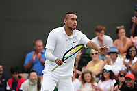 Tennis - 2019 Wimbledon Championships - Week One, Tuesday (Day Two)<br /> <br /> Men's Singles, 1st Round: Nick Kyrgios (AUS) v Jordan Thompson (AUS)<br /> <br /> Nick Kyrgios  on Court 3<br /> <br /> COLORSPORT/ANDREW COWIE