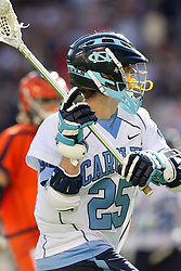 10 April 2010: North Carolina Tar Heels midfielder Greg McBride (25) during a 7-5 loss to the Virginia Cavaliers at the New Meadowlands Stadium in the Meadowlands, NJ.