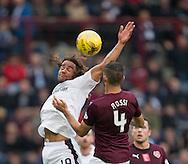 Dundee&rsquo;s Yordi Teijsse and Hearts&rsquo; Igor Rossi - Hearts v Dundee, Ladbrokes Scottish Premiership at Tynecastle, Edinburgh. Photo: David Young<br /> <br />  - &copy; David Young - www.davidyoungphoto.co.uk - email: davidyoungphoto@gmail.com