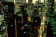 New York .elevated view on Midtown skyline,  New York  Usa   /   Les gratte ciel de Midtown ,,  New York  Usa