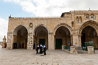 Al-Aqsa Mosque on the Temple Mount (Mount Mariah), Old City, Jerusalem, Israel.