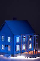 Illuminated model house