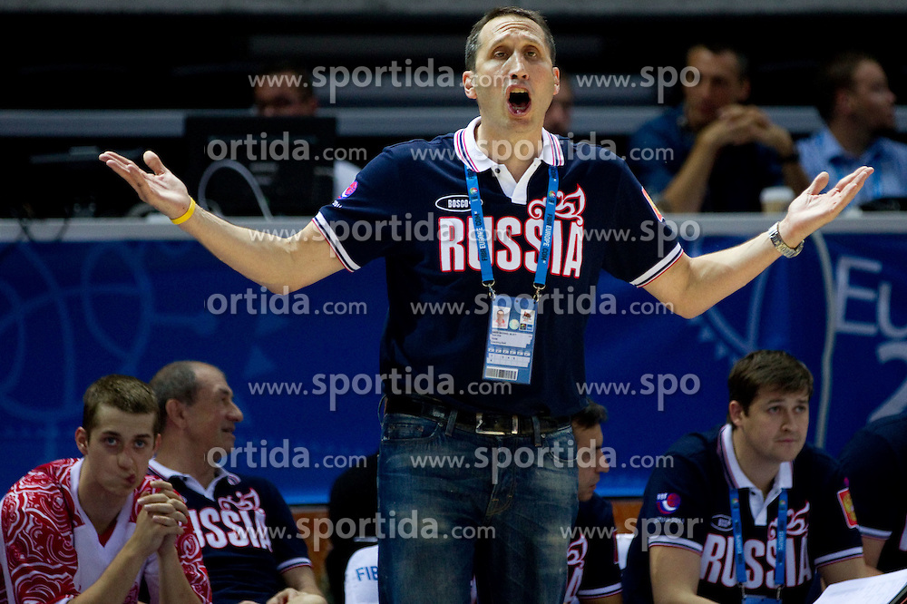David Blatt, head coach of Russia during basketball match between National teams of Slovenia and Slovenia in Group D of Preliminary Round of Eurobasket Lithuania 2011, on September 5, 2011, in Arena Svyturio, Klaipeda, Lithuania. Russia defeated Slovenia 65-64. (Photo by Vid Ponikvar / Sportida)