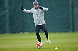 LIVERPOOL, ENGLAND - Tuesday, April 16, 2019: Liverpool's Alberto Moreno during a training session at Melwood Training Ground ahead of the UEFA Champions League Quarter-Final 2nd Leg match between FC Porto and Liverpool FC. (Pic by Laura Malkin/Propaganda)