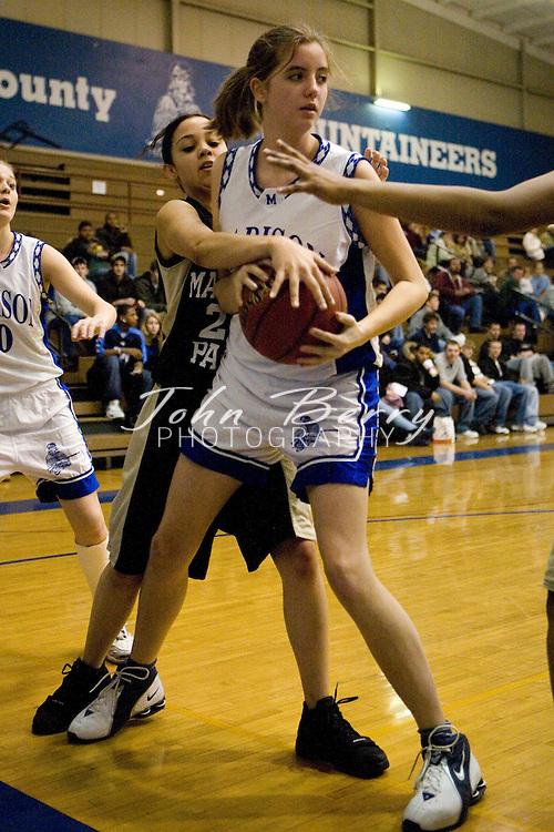 MCHS JV Girls Basketball .vs Manassas Park.January 26, 2007