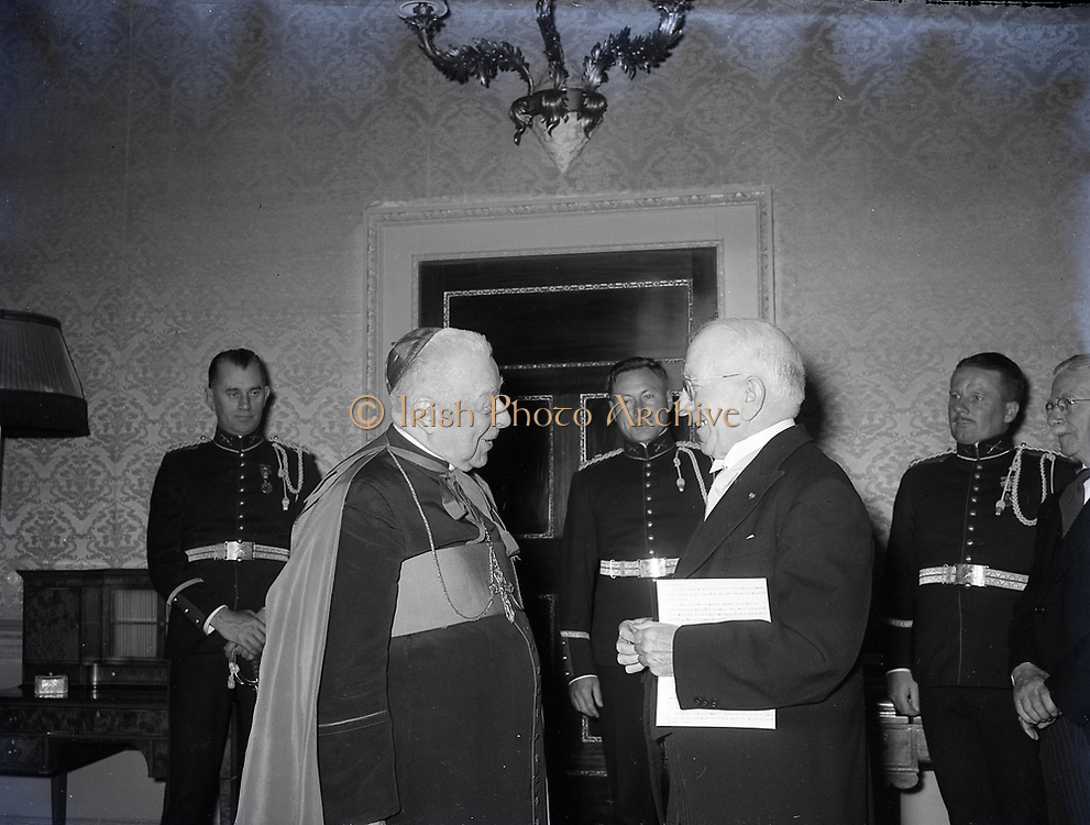 Alibrandi Right Reverent Monsignor Seatano, Albert Levame, Credentials been presented, Naunciture, 10-8-1956