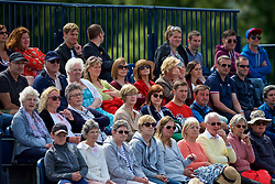 LIVERPOOL, ENGLAND - Saturday, June 23, 2018: Spectators look on during day three of the Williams BMW Liverpool International Tennis Tournament 2018 at Aigburth Cricket Club. (Pic by Paul Greenwood/Propaganda)