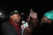 November 6, 2012- New York, NY:  New York State Senator Bill Perkins celebrates U.S President Barack Obama's Re-election as the 45th President of the United States. President Obama fought a closely contested political race in which he bested Republican Presidential candidate Mitt Romney for the U.S. Presidency. (Terrence Jennings) .
