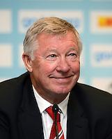 FUSSBALL  INTERNATIONAL Testspiel 2012/2013  08.08.2012 Manchester United  - FC Barcelona  Trainer Sir Alex Ferguson (Manchester United FC)