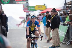 Sara Penton (SWE) of Veloconcept Cycling Team crosses the finish line of La Course 2017 - a 67.5 km road race, from Briancon to Izoard on July 20, 2017, in Hautes-Alpes, France. (Photo by Balint Hamvas/Velofocus.com)