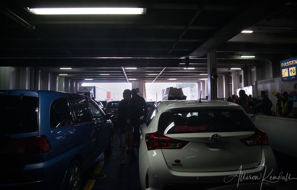 A storrmy passage on the Interislander ferry across the Cook Strait of New Zealand, from the North to the South island.