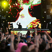 May 17, 2013 - Queens, NY :  Dirty South performs during the first day of the 2013 New York 'Electric Daisy Carnival,' an electronic dance music festival, at Citi Field in Queens, on Friday. CREDIT: Karsten Moran for The New York Times CREDIT: Karsten Moran for The New York Times