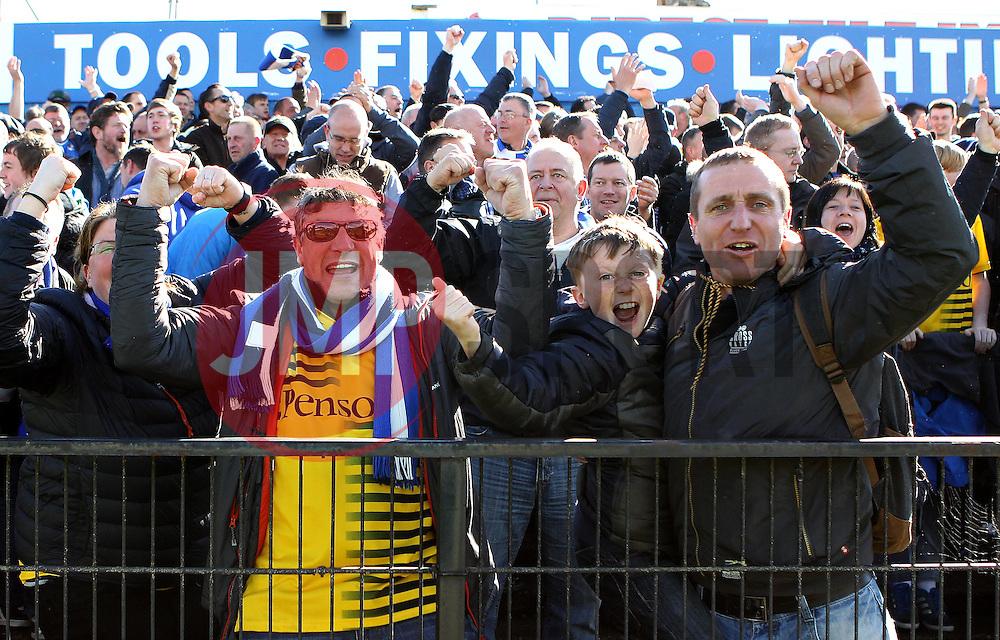 Bristol Rovers celebrate Billy Bodin's second goal - Mandatory by-line: Robbie Stephenson/JMP - 30/04/2016 - FOOTBALL - Bootham Crescent - York, England - York City v Bristol Rovers - Sky Bet League Two