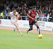 Dundee's Riccardo Calder goes past Ross County&rsquo;s Marcus Fraser - Dundee v Ross County - Ladbrokes Premiership at Dens Park<br /> <br />  <br />  - &copy; David Young - www.davidyoungphoto.co.uk - email: davidyoungphoto@gmail.com
