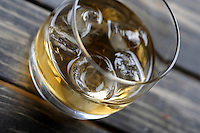 Close-up of whisky glass