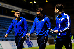Liam Sercombe of Bristol Rovers, Edward Upson of Bristol Rovers and Tom Lockyer of Bristol Rovers arrives at The Medway Priestfield Stadium prior to kick off - Mandatory by-line: Ryan Hiscott/JMP - 12/03/2019 - FOOTBALL - The Medway Priestfield Stadium - Gillingham, England - Gillingham v Bristol Rovers - Sky Bet League One