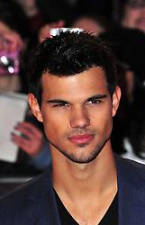 Taylor Lautner during the Twilight Saga: Breaking Dawn Part 2 UK film premiere, London, United Kingdom, November 14, 2012. Photo by Nils Jorgensen / i-Images..