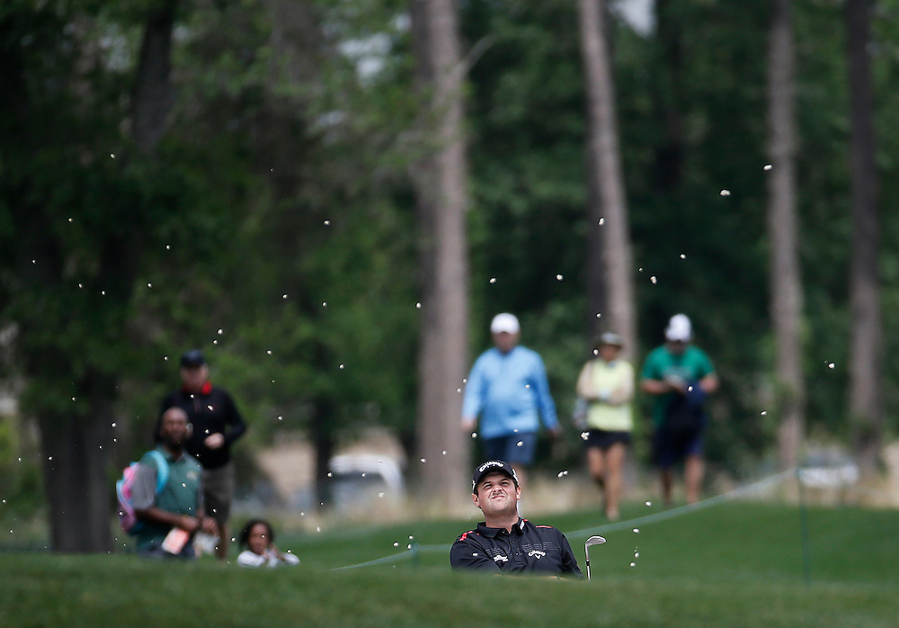 Patrick Reed hits out of the bunker on hole #1 during the second round of the Shell Houston Open golf tournament at the Golf Club of Houston on , Friday, April 1, 2016, in Humble, Texas.  (Photo: Thomas B. Shea/For the Chronicle)