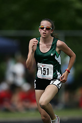 Hamilton, Ontario ---07/06/08--- Amanda Matthews of Belle River in Belle River competes in the 3000 meters at the 2008 OFSAA Track and Field meet in Hamilton, Ontario..GEOFF ROBINS