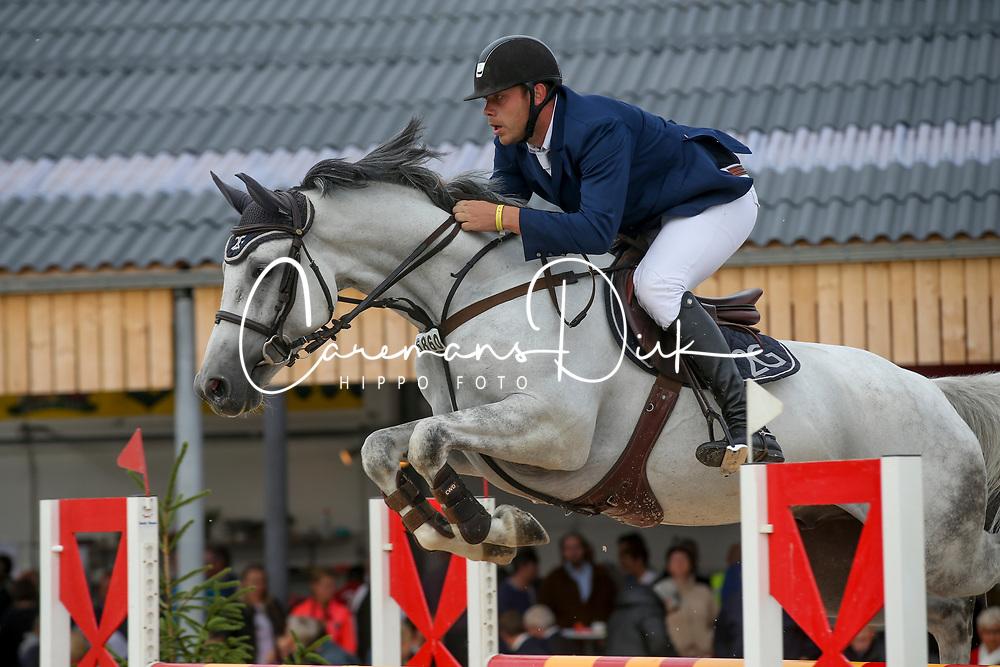 Geerts Geoffrey, BEL, Pandora Boy Z<br /> Belgian Championship horses 5 years of age<br /> Gesves - 2018<br /> © Hippo Foto - Julien Counet<br /> 15/08/2018