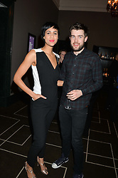 ZAWE ASHTON and JACK WHITEHALL at the Old Vic 24 Hour Plays Celebrity Gala held at the Rosewood Hotel, 252 High Holborn, London on 24th November 2013.
