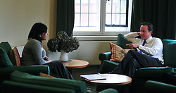 Leader of the Conservative Party David Cameron meets with Sayeeda Warsi Shadow Minister for Community Cohesion and Social Action,after her appearence on Question Time with Nick Griffin, 2009 .Photo By Andrew Parsons/i-ImagesLeader of the Conservative Party David Cameron meets with Sayeeda Warsi Shadow Minister for Community Cohesion and Social Action,after her appearence on Question Time with Nick Griffin, 2009 .Photo By Andrew Parsons/i-Images