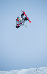 February 19, 2018 - Pyeongchang, South Korea - JULIA MARINO of the United States competes in Women's Snowboard Big Air  qualifications Monday, February 19, 2018 at the Alpensia Ski Jumping Centre at the Pyeongchang Winter Olympic Games. Marino qualified for the finals.The sport is making it's first appearance as an Olympic sport. Photo by Mark Reis, ZUMA Press/The Gazette (Credit Image: © Mark Reis via ZUMA Wire)