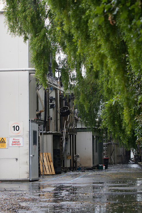 The scene of an overnight fire which gutted the Gelita gelatine factory in Woolston, Christchurch, New Zealand, Friday, January 5, 2018. Credit:  SNPA / David Alexander