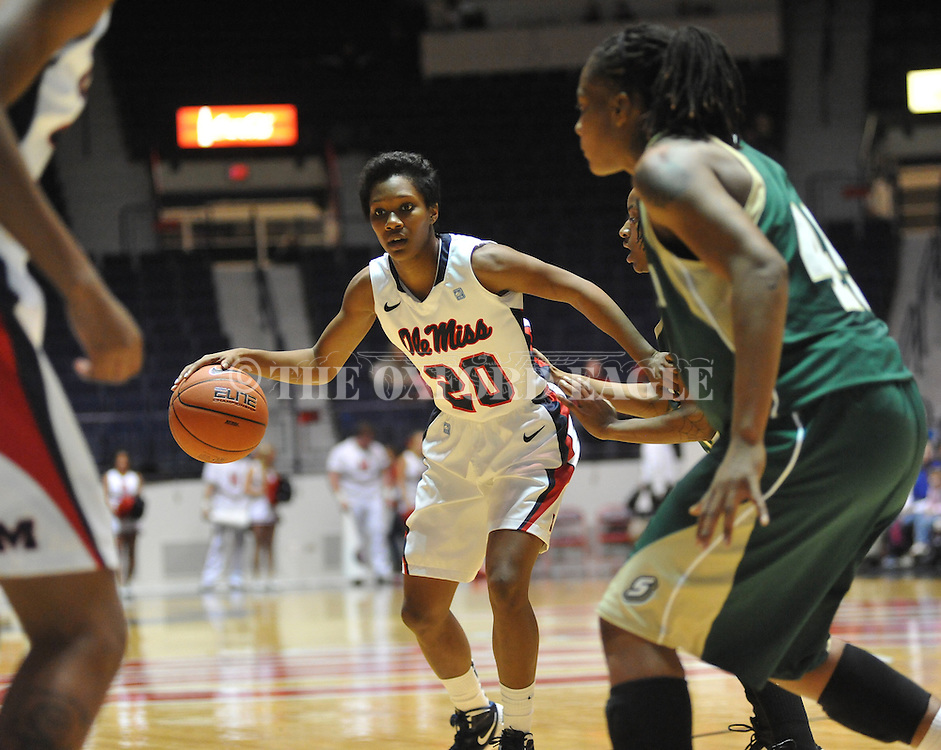 Ole Miss' Amber Singletary (20) vs. Southeastern Louisiana in Oxford, Miss. on Friday, November 9, 2012.