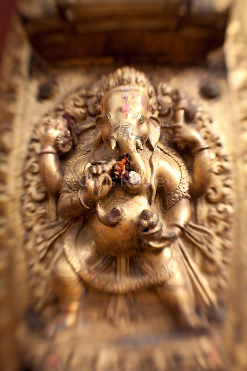 Statue of the Hindu god Ganesh in Bhaktapur's Durbar Square.