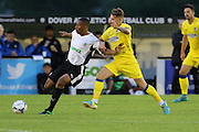 AFC Wimbledon midfielder Jake Reeves (8) during the Pre-Season Friendly match between Dover Athletic and AFC Wimbledon at Crabble Athletic Ground, Dover, United Kingdom on 12 July 2016. Photo by Stuart Butcher.