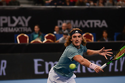 February 7, 2019 - Sofia, Bulgaria - S. Tsitsipas (GRE). J. Struff (GER) vs S. Tsitsipas (GRE)  during Sofia Open 2019 at Arena Armeec Hall in the Bulgarian capital of Sofia, Bulgaria on February 07, 2019  (Credit Image: © Hristo Rusev/NurPhoto via ZUMA Press)