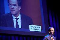 DEN HAAG, 23 januari 2017.<br /> Haagsch College inzet Paard van Troje met Lodewijk Asscher, minister van Sociale Zaken, vice-premier en lijsttrekker van de PvdA.<br /> FOTO MARTIJN BEEKMAN