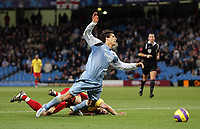 Photo: Paul Thomas.<br /> Manchester City v Watford. The Barclays Premiership. 04/12/2006.<br /> <br /> Bernardo Corradi, Jay Demeritof Man City. of Watford.