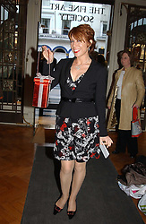 Writer KATHY LETTE at a party to celebrate the publication of an autobiography by the late Jack Rosenthal at The Fine Art Society, 148 New Bond Street, London W1 on 21st April 2005.<br />