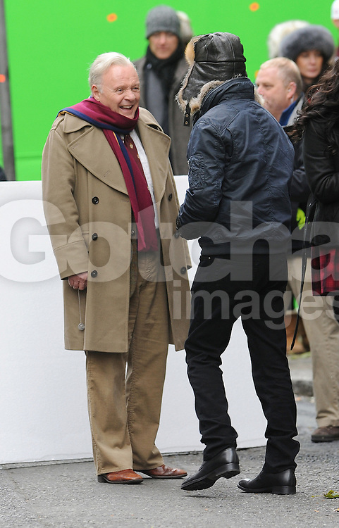 Anthony Hopkins, Bruce Willis, Mary-Louise Parker and John Malkovich on set of new movie Red 2 in central London. UK. 27/10/2012<br /> BYLINE MUST READ : GOTCHAIMAGES.COM<br />