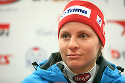 Vanja Brodnik at press conference of Women Slovenian alpine team before the World Championship in Val d'Isere, France, on January 26, 2009, in Ljubljana, Slovenia. (Photo by Vid Ponikvar / Sportida).