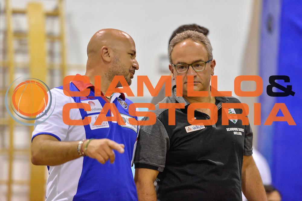 Matteo Boccolini, Stefano Sacripanti<br /> Banco di Sardegna Dinamo Sassari - Sidigas Scandone Avellino<br /> Precampionato 2016/2017<br /> Padru 07/09/2016<br /> Foto Ciamillo-Castoria