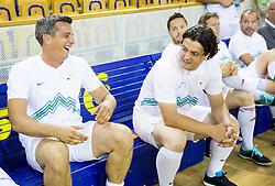 Mile Acimovic and Zlatko Zahovic during football and basketball charity event All Legends by Olimpiki, on June 9, 2015 in Hala Tivoli, Ljubljana, Slovenia. Photo by Vid Ponikvar / Sportida