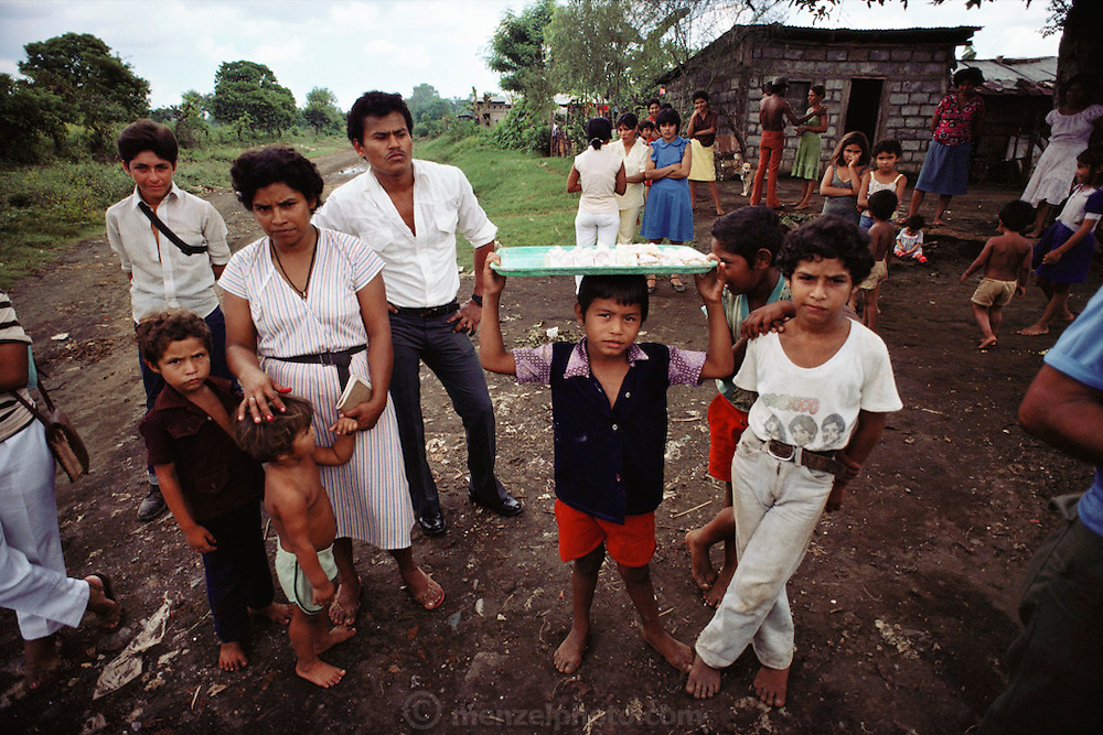 Residents of a small neighborhood in Leon, Nicaragua.
