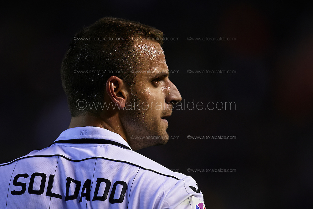VALENCIA, SPAIN - APRIL 20:  during the Liga BBVA between Valencia CF and Malaga CF at the Mestalla stadium on April 20, 2013 in Valencia, Spain. (Photo by Aitor Alcalde Colomer).