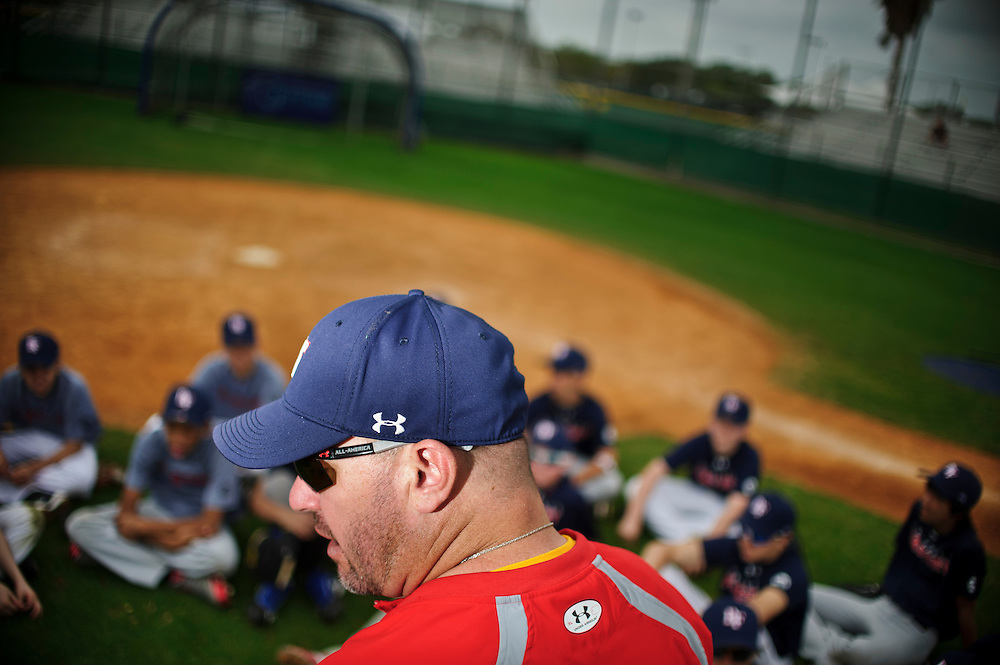(photo by Matt Roth).Saturday, February 11, 2012..Baseball Factory Yankee Spring Training Experience Camp at Turley Athletic Complex at Eckerd College in St. Petersburg, Florida Saturday, February 11, 2012.