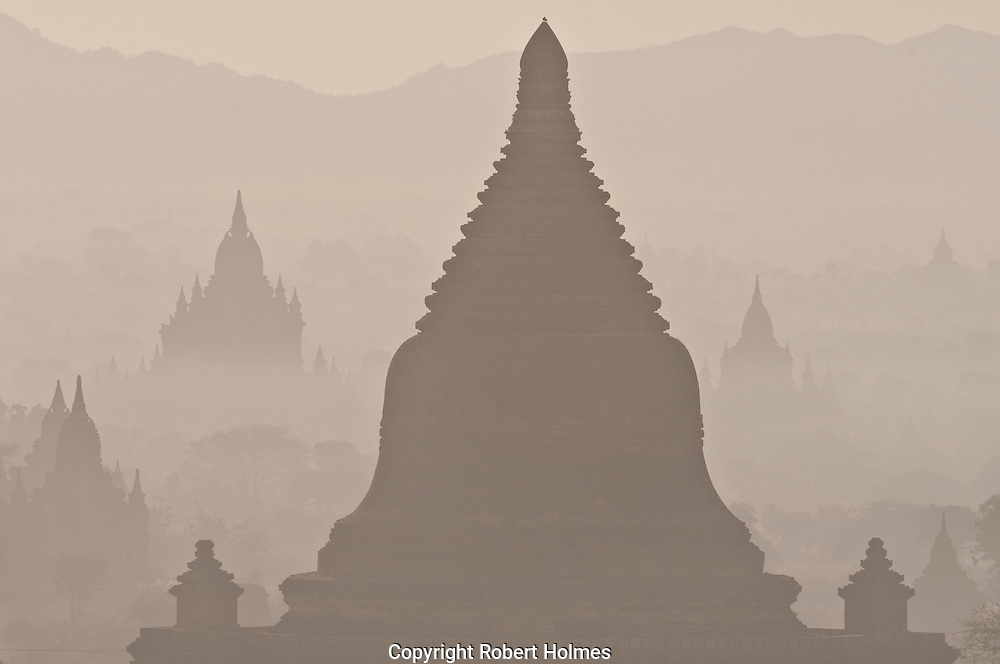 Temples of Bagan at dawn, Myanmar