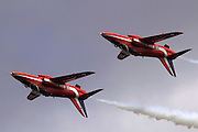 Royal Air Force Aerobatic Team Red Arrows at the Royal International Air Tattoo (RIAT) Air Show July 2009