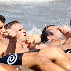 DURBAN, SOUTH AFRICA, December 10. 2015 -Patrick Lambie during The Cell C Sharks Pre Season Beach South Beach training for the 2016 Super Rugby Season . (Photo by Steve Haag)<br /> images for social media must have consent from Steve Haag