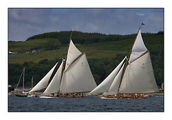 Mariquita 1911 a 19 metre  and The Lady Anne 1912 a 15 metre..* The Fife Yachts are one of the world's most prestigious group of Classic  yachts and this will be the third private regatta following the success of the 98,  and 03 events.  .. Marc Turner / PFM Pictures