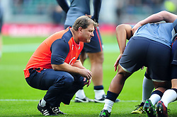 England Rugby scrum coach Neal Hatley looks on during the pre-match warm-up - Mandatory byline: Patrick Khachfe/JMP - 07966 386802 - 26/11/2016 - RUGBY UNION - Twickenham Stadium - London, England - England v Argentina - Old Mutual Wealth Series.